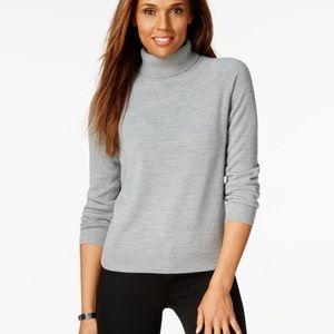 NWOT Karen Scott Cream Turtleneck Sweater